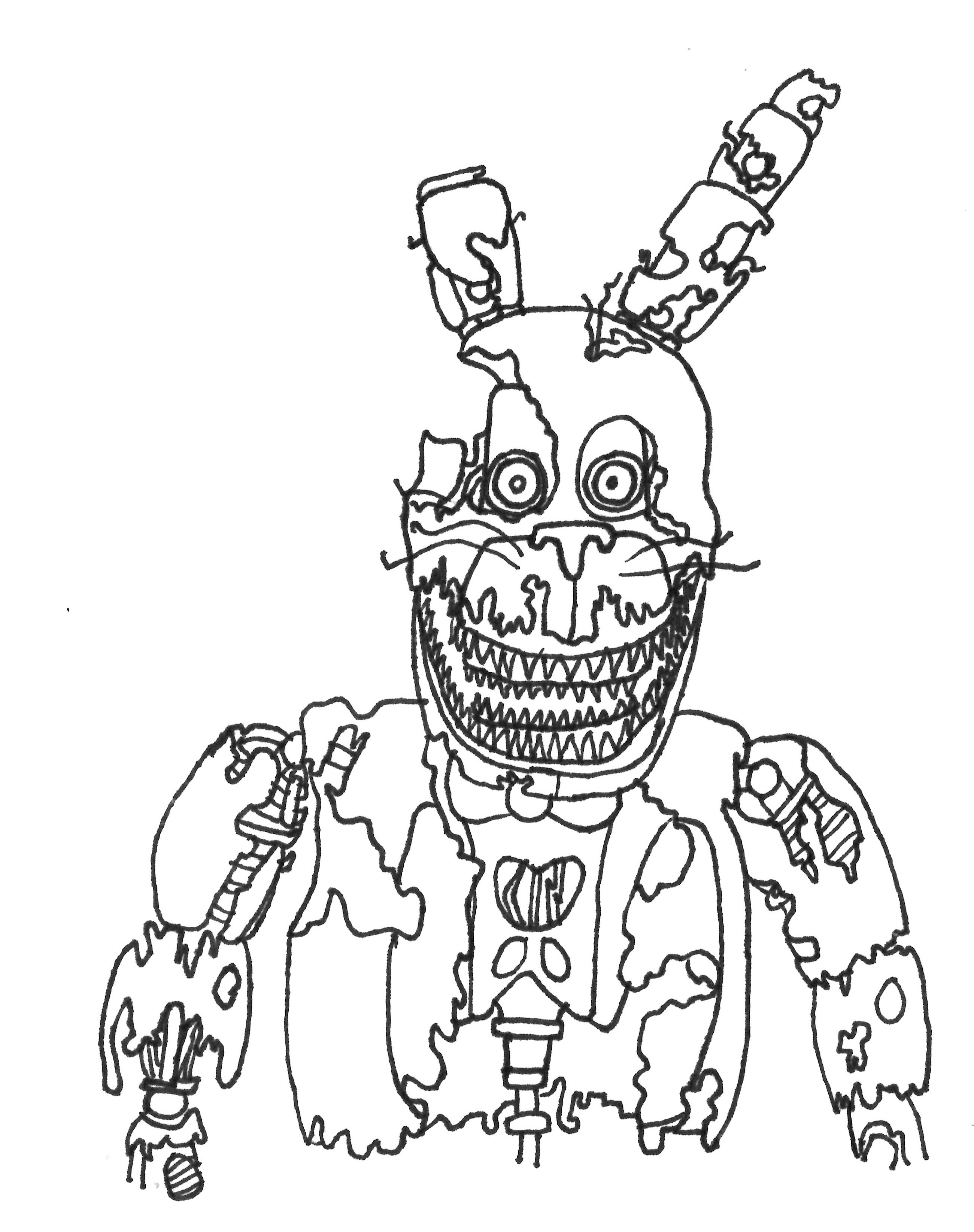 toy bonnie coloring page 34