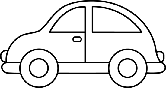 550x293 Cute Toy Car Coloring Page