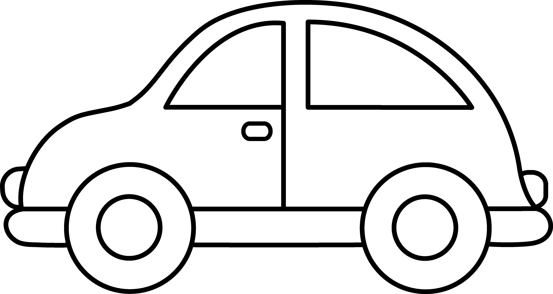 4919x2618 Toy Car Clip Art Black And White Templats Clip