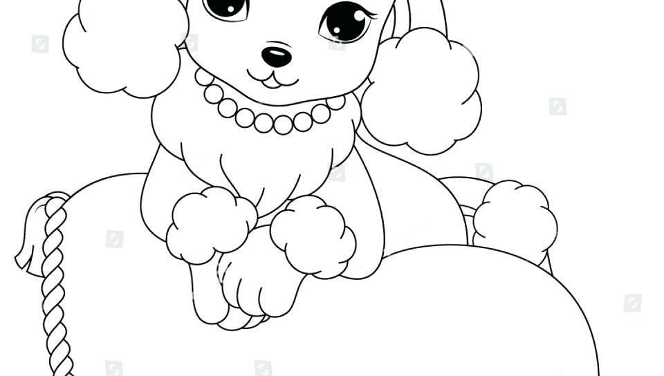 960x544 Poodle Coloring Page Poodle Coloring Page Cartoon Free Printout