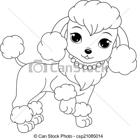 450x456 Poodle Coloring Pages Page Glamorous Dog For Kids Vector
