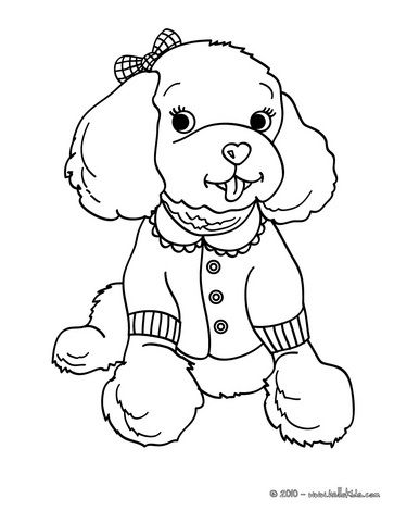 363x470 Dog Color Pages Printable Poodle Coloring Pages Color This