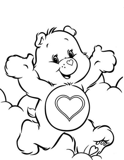474x613 Happy Birthday Bear Coloring Page Care Bear