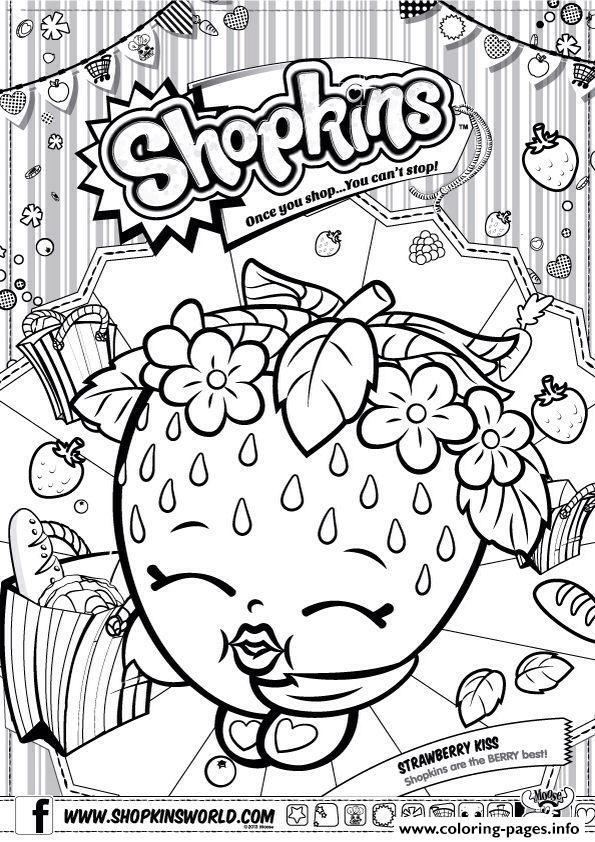 595x842 Strawberry Kiss Shopkins Coloring Page Shopkins World India Toys