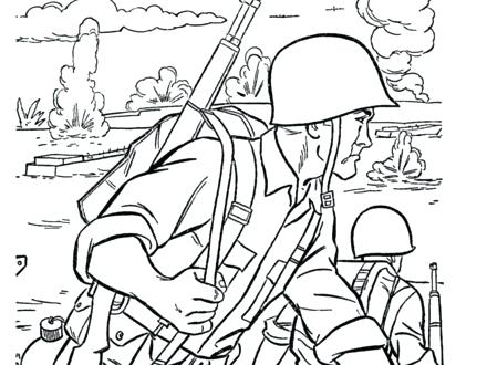 440x330 Soldier Coloring Page Military Marching Soldier Coloring Pages Toy