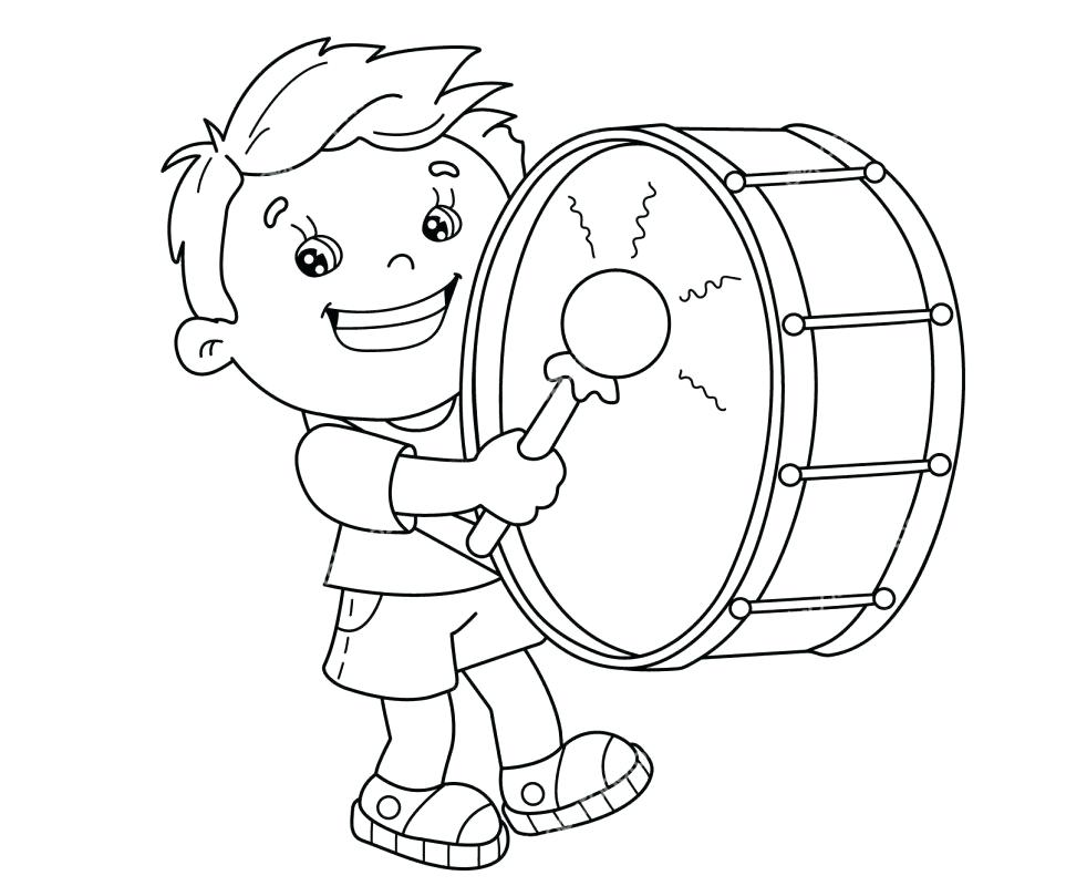 963x800 Drums Coloring Page Stock Illustration Free Printable Drum Pages