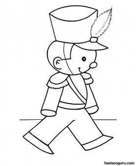 277x338 Free Christmas Coloring Pages Toy Soldier