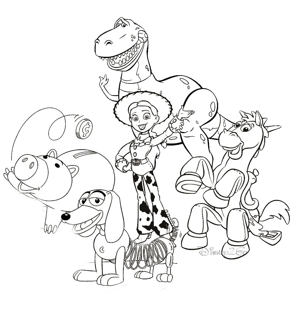 1000x1100 Top Toy Story Coloring Pages