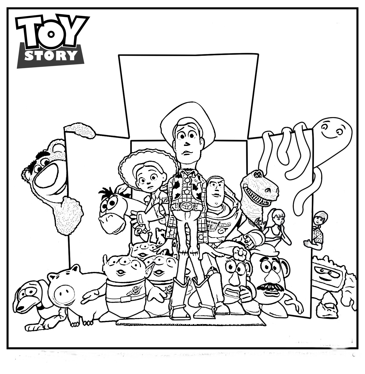 1450x1484 Coloring Pages Toy Story Wagashiya