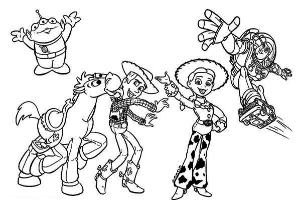 600x424 Some Of The Characters In Toy Story Movie Coloring Page