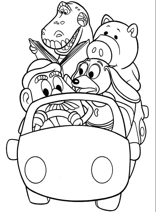 540x737 Car Ride Character Toy Story Coloring Pages Coloring Pages