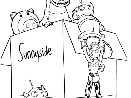 440x330 Jessie Toy Story Coloring Pages Coloring Home, Toy Story Christmas