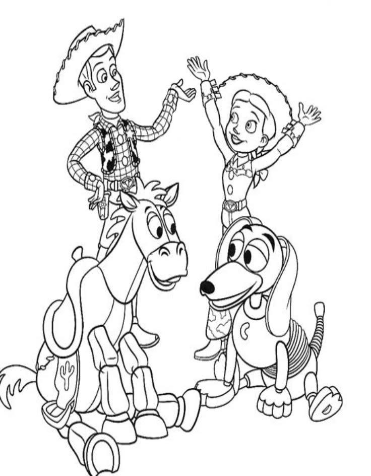 736x944 Toy Story Coloring Pages For Kids Printable