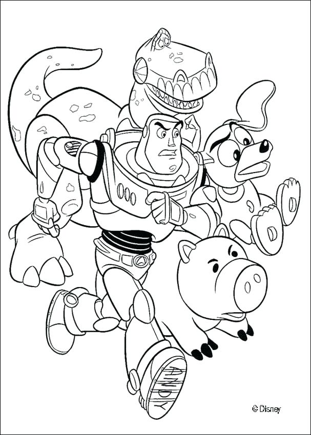 607x850 Buzz Lightyear Coloring Page Professional