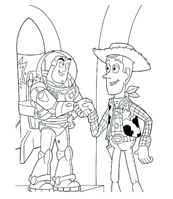 600x689 Woody Coloring Page Woody Toy Story Coloring Pages Woody And Buzz