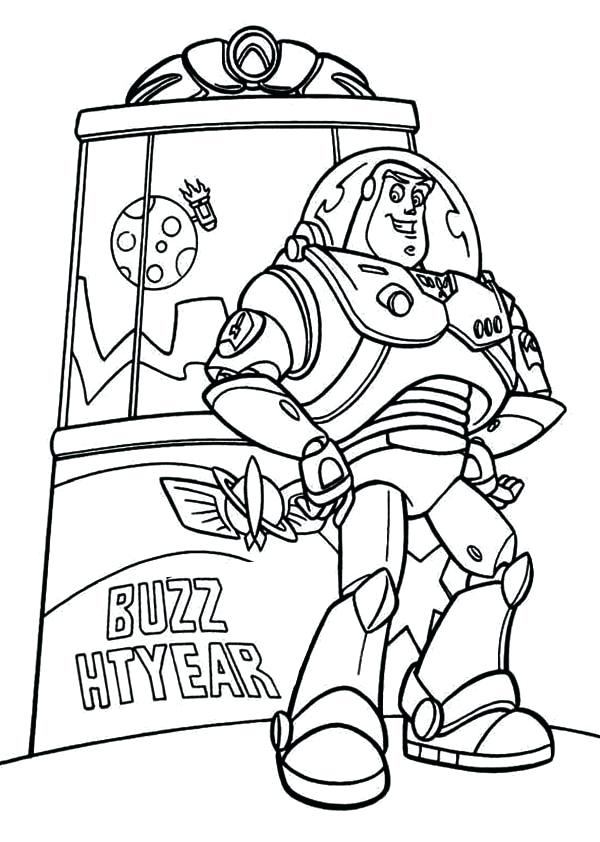 600x842 Buzz Lightyear Coloring Pages Together With Buzz In Front Of Toy