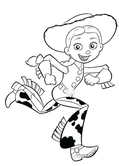 468x650 Jessie Toy Story Coloring Pages Toy Story Coloring Pages Free