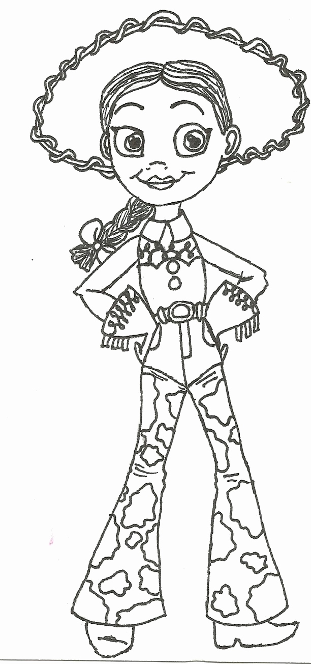 612x1304 Jessie And Woody From Toy Story Coloring Pages Treasure Coloring