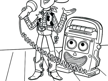 440x330 Toy Story Coloring Pages Printable Toy Story Woody And Bullseye