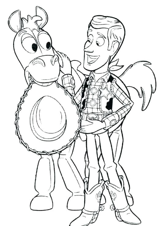538x736 Woody And Buzz Coloring Pages Free Printable Toy Story Coloring