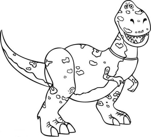 530x480 Rex Dinosaur Toy Story Coloring Pages