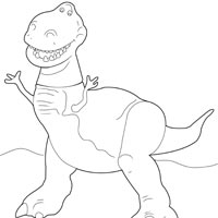 200x200 Rex Coloring Pages Surfnetkids