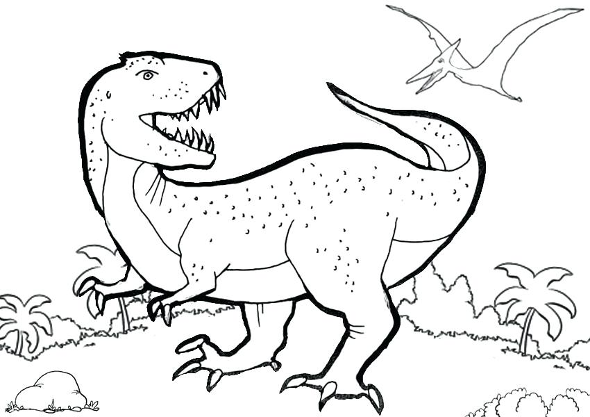 850x600 T Rex Coloring Page Free Coloring Pages Rex Coloring Pages Toy