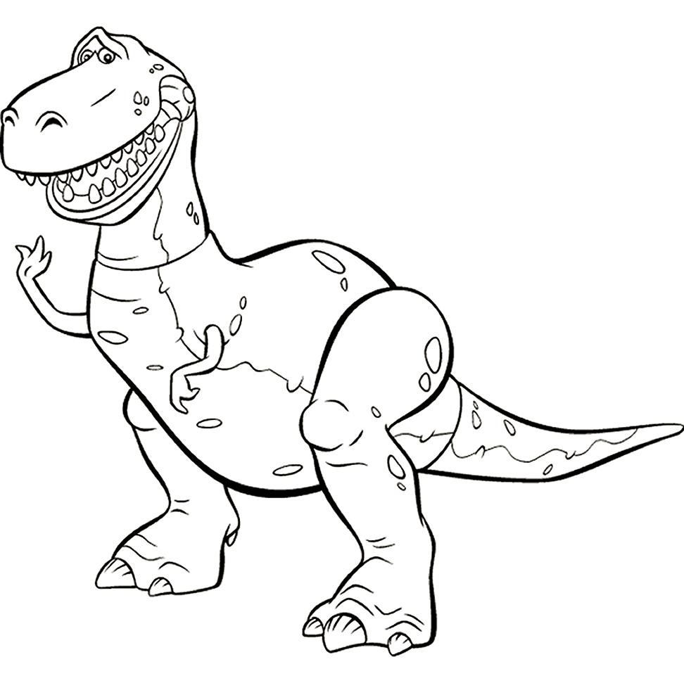 972x971 Toy Story Rex Coloring Pages