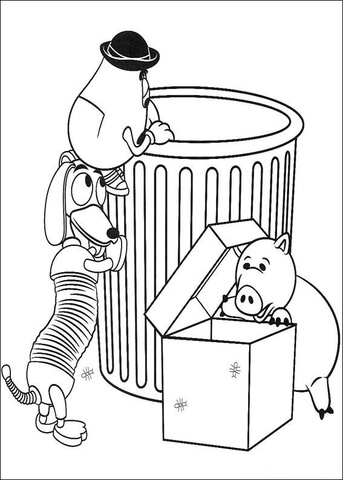 343x480 Mr Potato Head And Slinky Dog Toy Story Coloring Pages Preschool