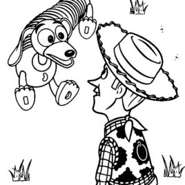 268x268 Toy Story Slinky Dog And Mr Potato Head Coloring Page Slinky Dog