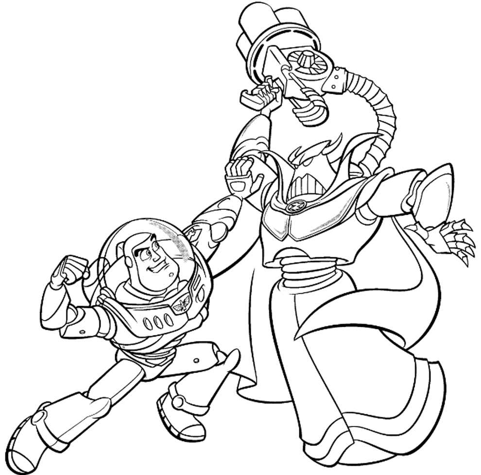 990x978 New Sweet Zurg Coloring Pages Toy Story Free Inofations For Your