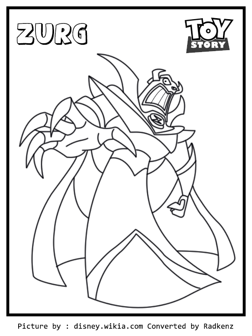 513x684 Radkenz Artworks Gallery Toy Story Zurg Coloring Page