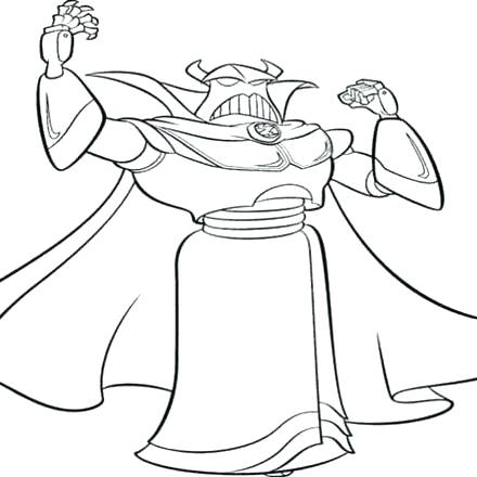 440x440 Zurg Coloring Pages Toy Story Coloring Page Coloring Pages Color