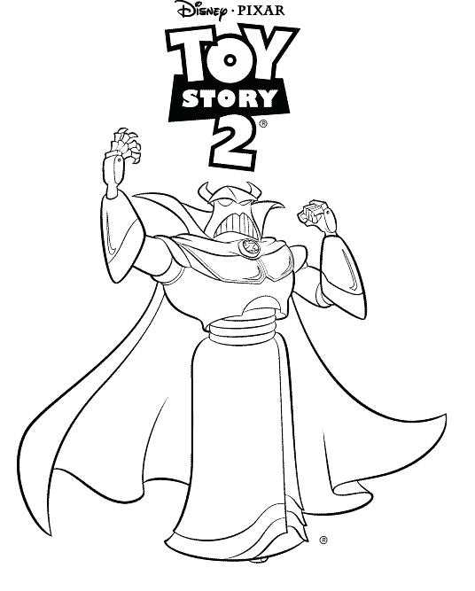 536x667 Zurg Coloring Pages Toy Story Coloring Pages Images Buzz Lightyear