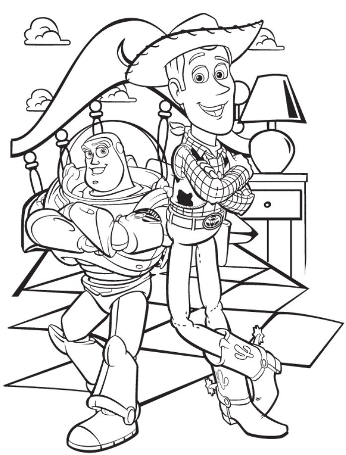 697x916 Lovely Buzz And Zurg Coloring Pages Coloring Ws