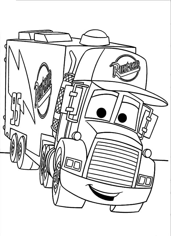 600x827 Mack Truck Coloring Pages Car Transporter Mack The Truck Coloring