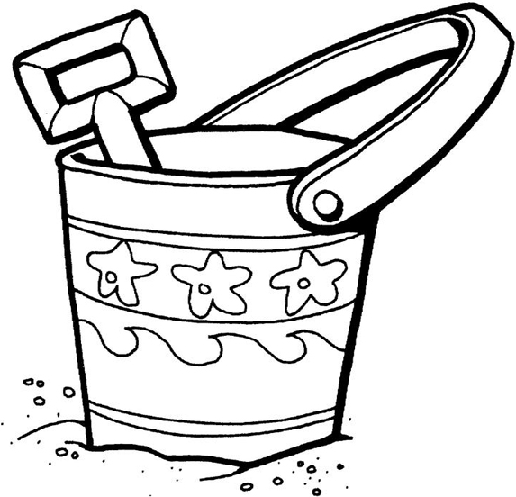 573x552 Sand Toys Coloring Page Coloring Book