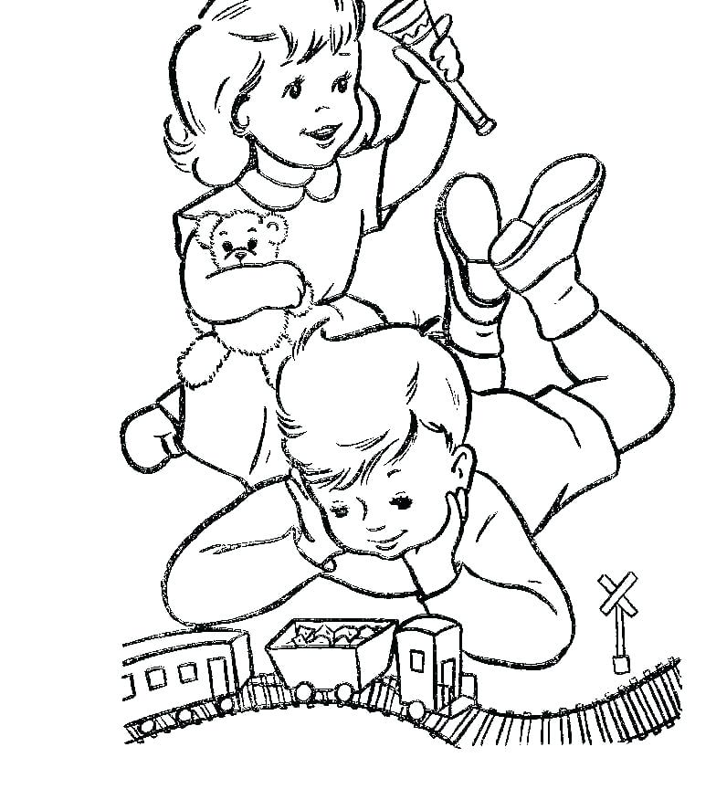 784x864 Toy Coloring Pages Airplane Toys Coloring Page Pages For Kids Toy