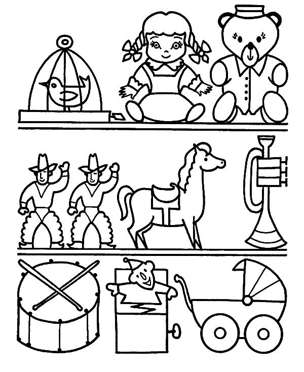 600x734 Toy Coloring Pages Coloring Pages Toys Toys Coloring Pages