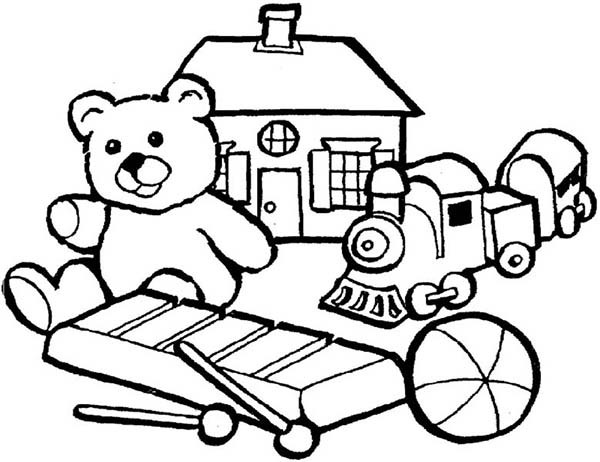 600x462 Toys Coloring Pages Group Of Little Kids Toys Coloring Pages Best