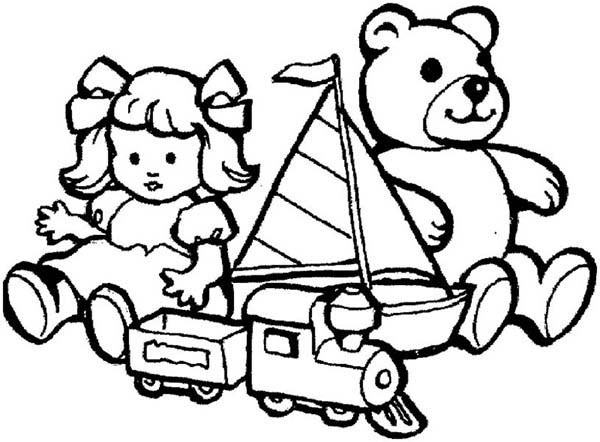 600x442 Toys Coloring Pages Toys For Little Kids Coloring Pages Best Place
