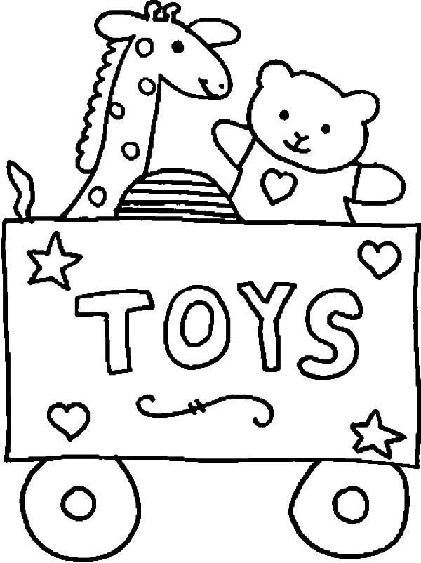 600x802 Carriage Full Of Toys Coloring Pages Best Place To Color