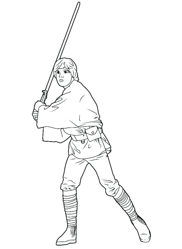 594x813 Luke Skywalker Coloring Pages Drawn Darth Vader Traceable