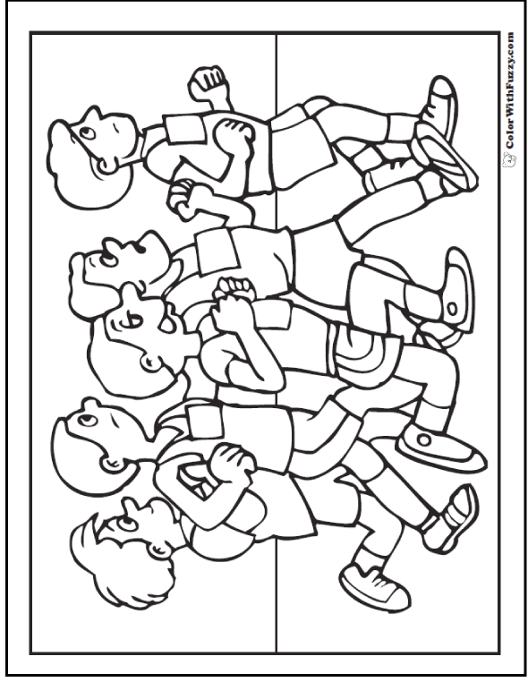 Track And Field Coloring Pages
