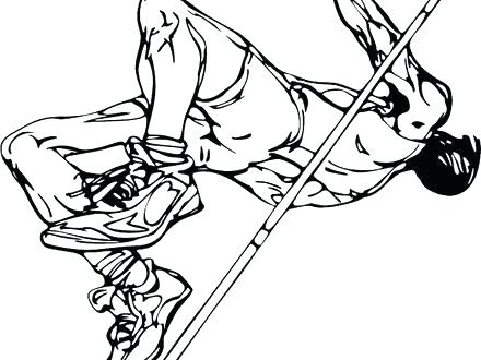 440x330 Track And Field Coloring Pages Basketball Track And Field