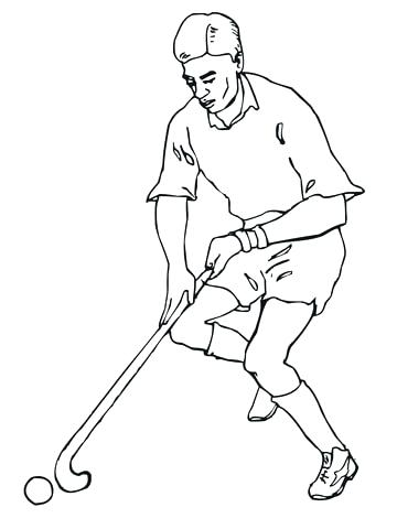 360x480 Track And Field Coloring Pages Playing Field Hockey Coloring Page