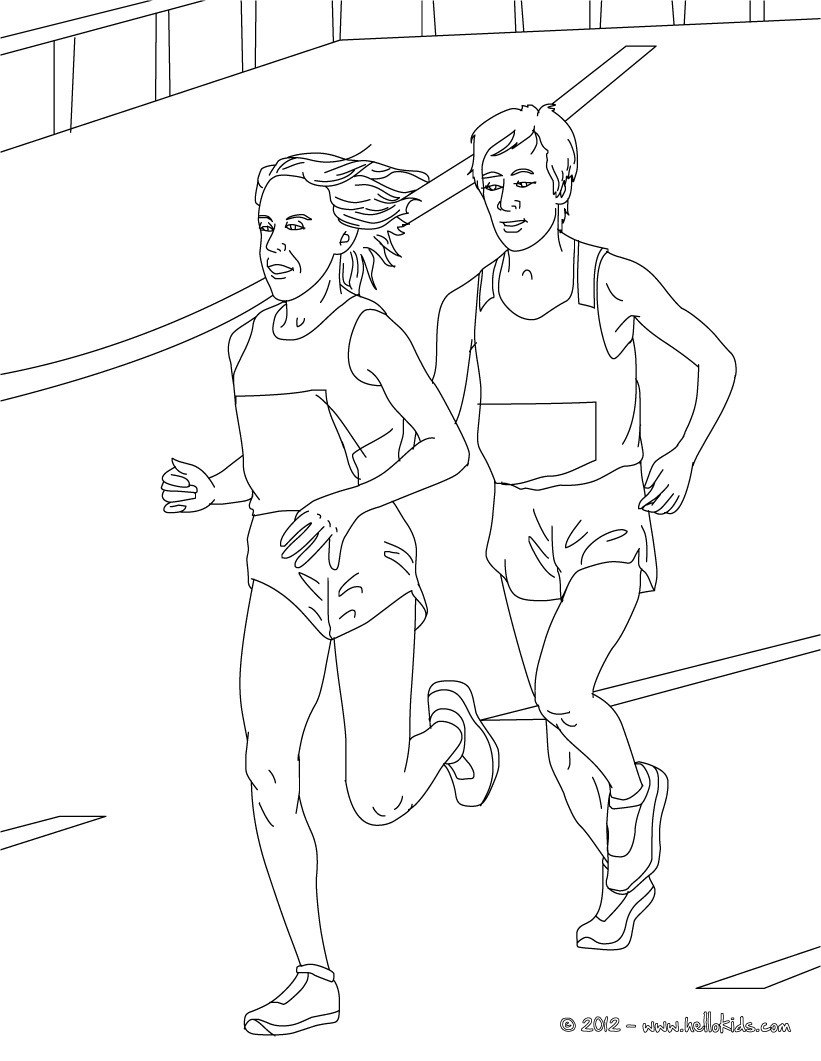 821x1061 Athletics Coloring Pages For Kids