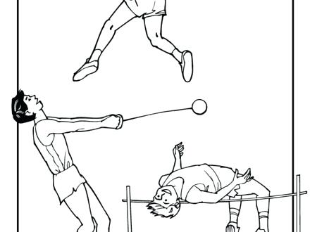 440x330 Track And Field Coloring Pages Track And Field Printable Coloring