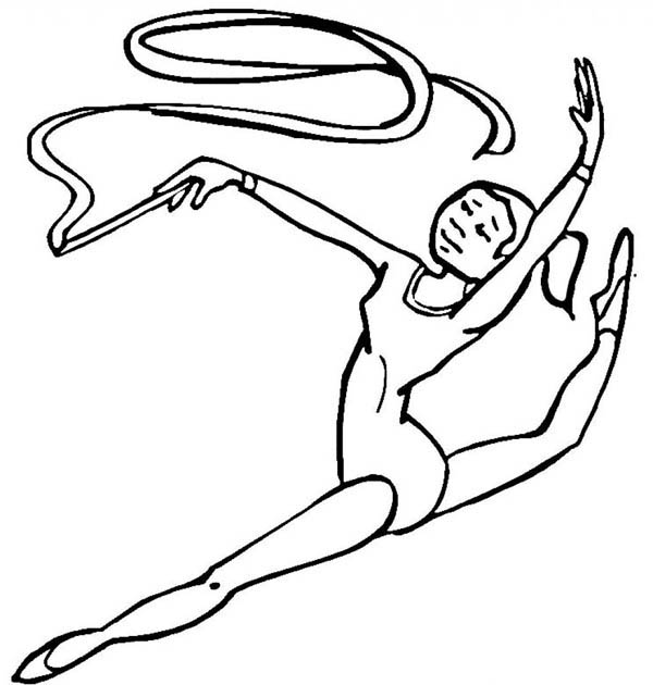 600x630 Gymnastic Colouring Pictures Royalty Free Track And Field Stock