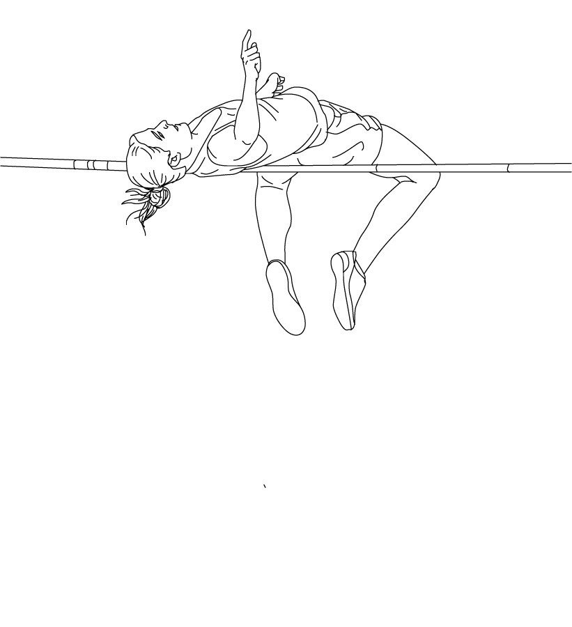821x900 Pole Vault Athletics Coloring Pages And Book To Download Free Kids